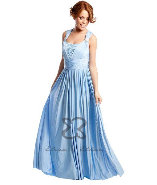 Eliza & Ethan Baby Blue Multiwrap Dress Alila