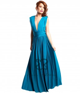 Blue Lagoon Eliza & Ethan multi-wrap dress
