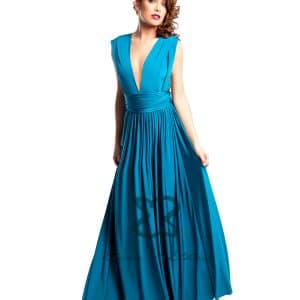Eliza & Ethan Blue Lagoon Multiwrap Dress Alila