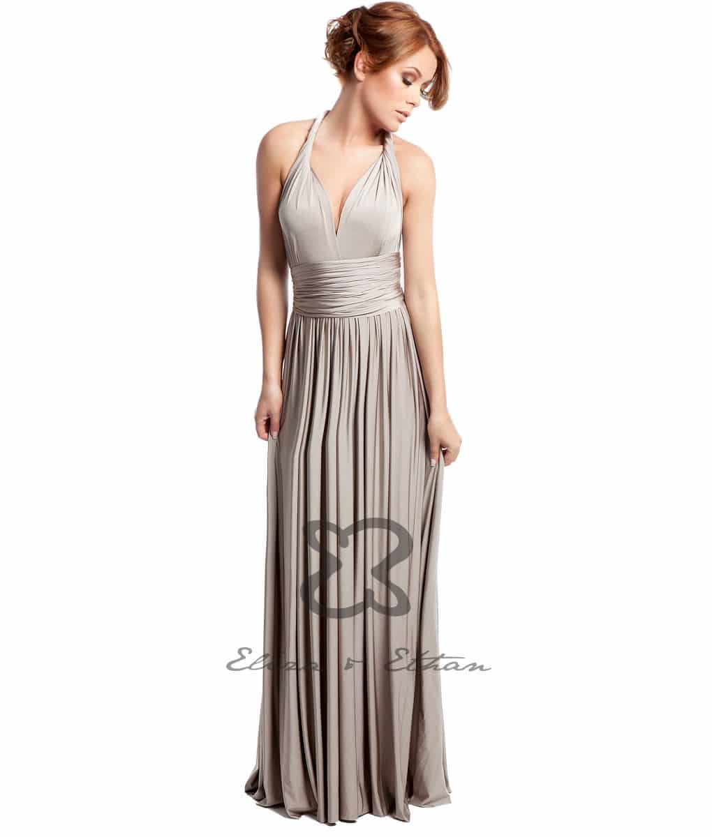 Eliza & Ethan Champagne Multiwrap Dress Alila