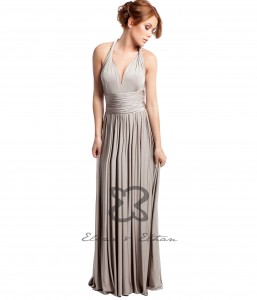 Champagne Eliza & Ethan Multi-wrap dress