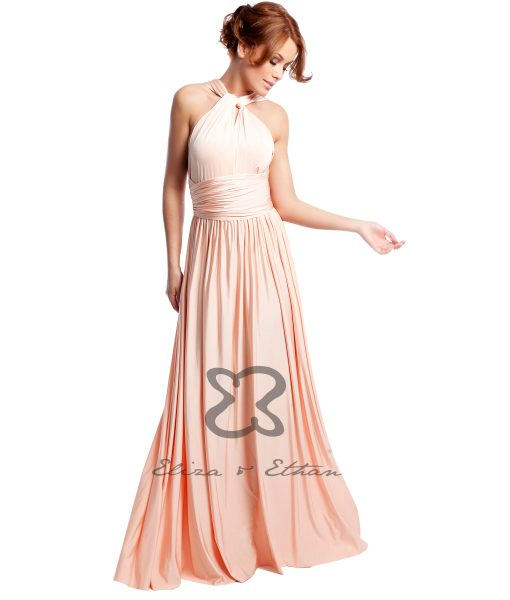 Eliza & Ethan Dusty Peach Multiwrap Dress Alila
