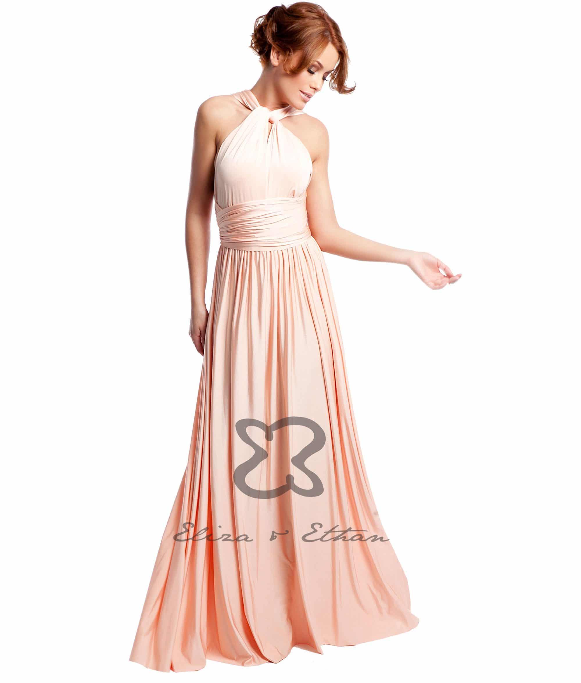 Eliza & Ethan Dusty Peach Multiwrap Dress Alila