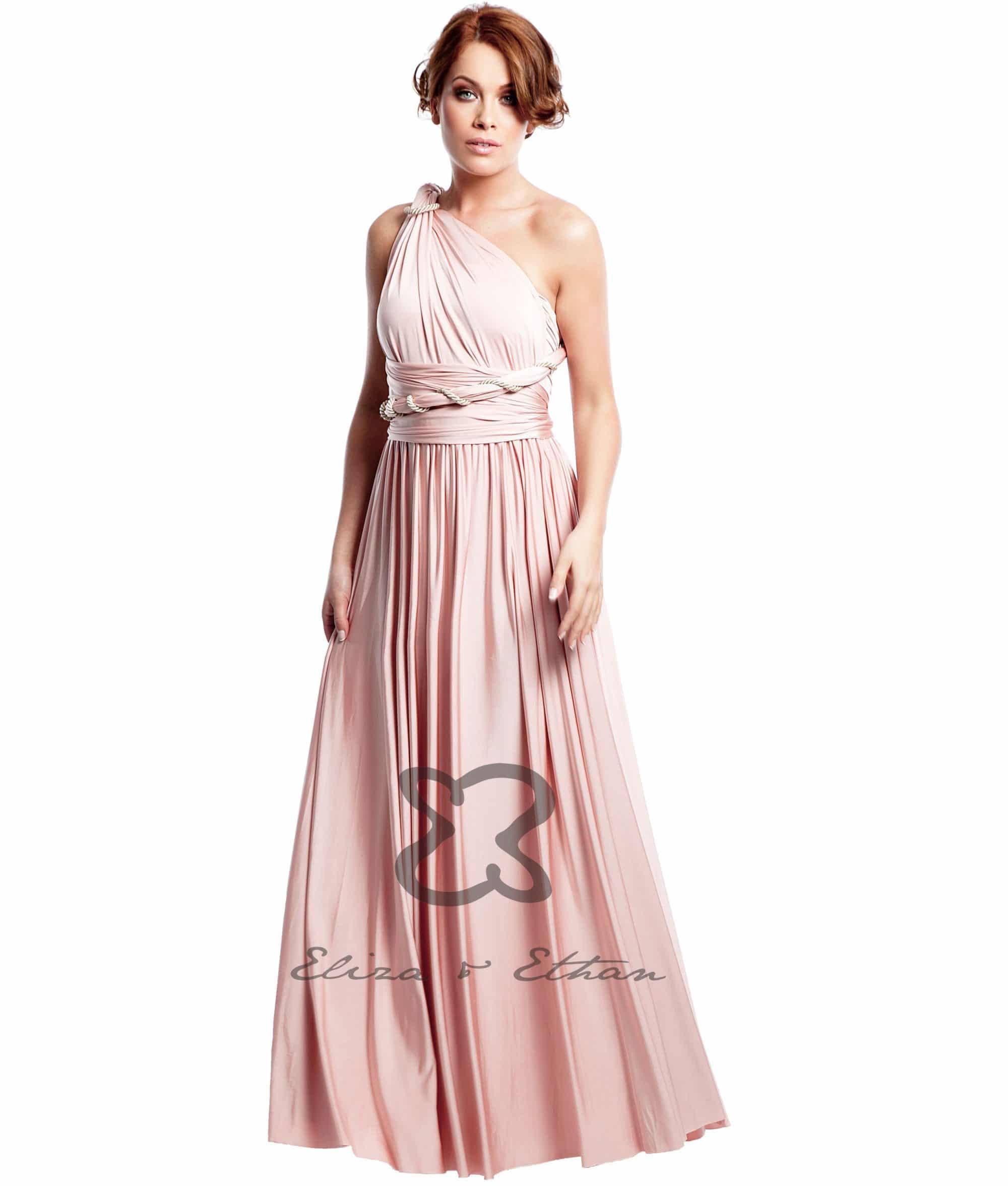 Eliza & Ethan Dusty Rose Multiwrap Dress Alila