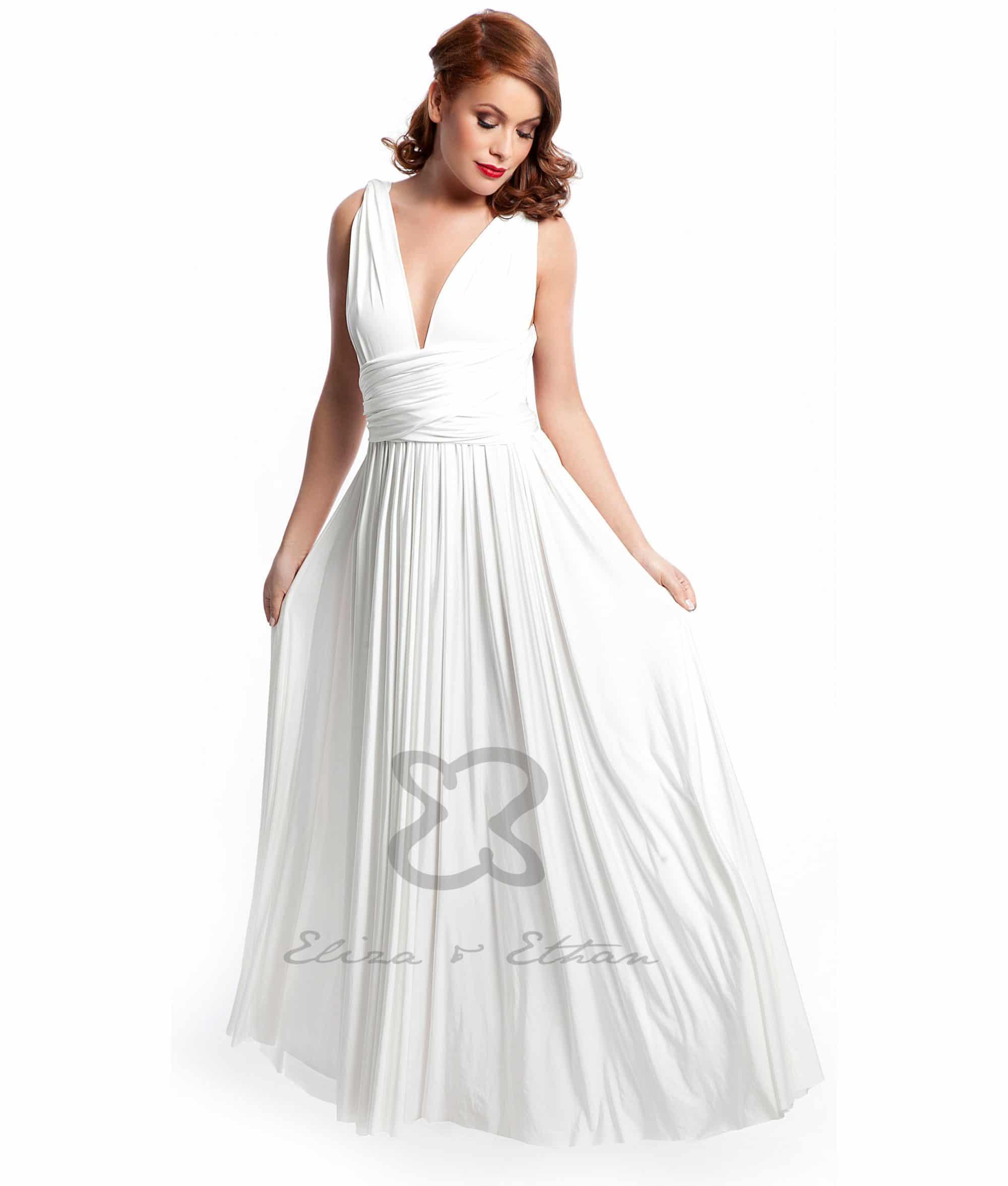 Eliza & Ethan Ivory Multiwrap Dress Alila