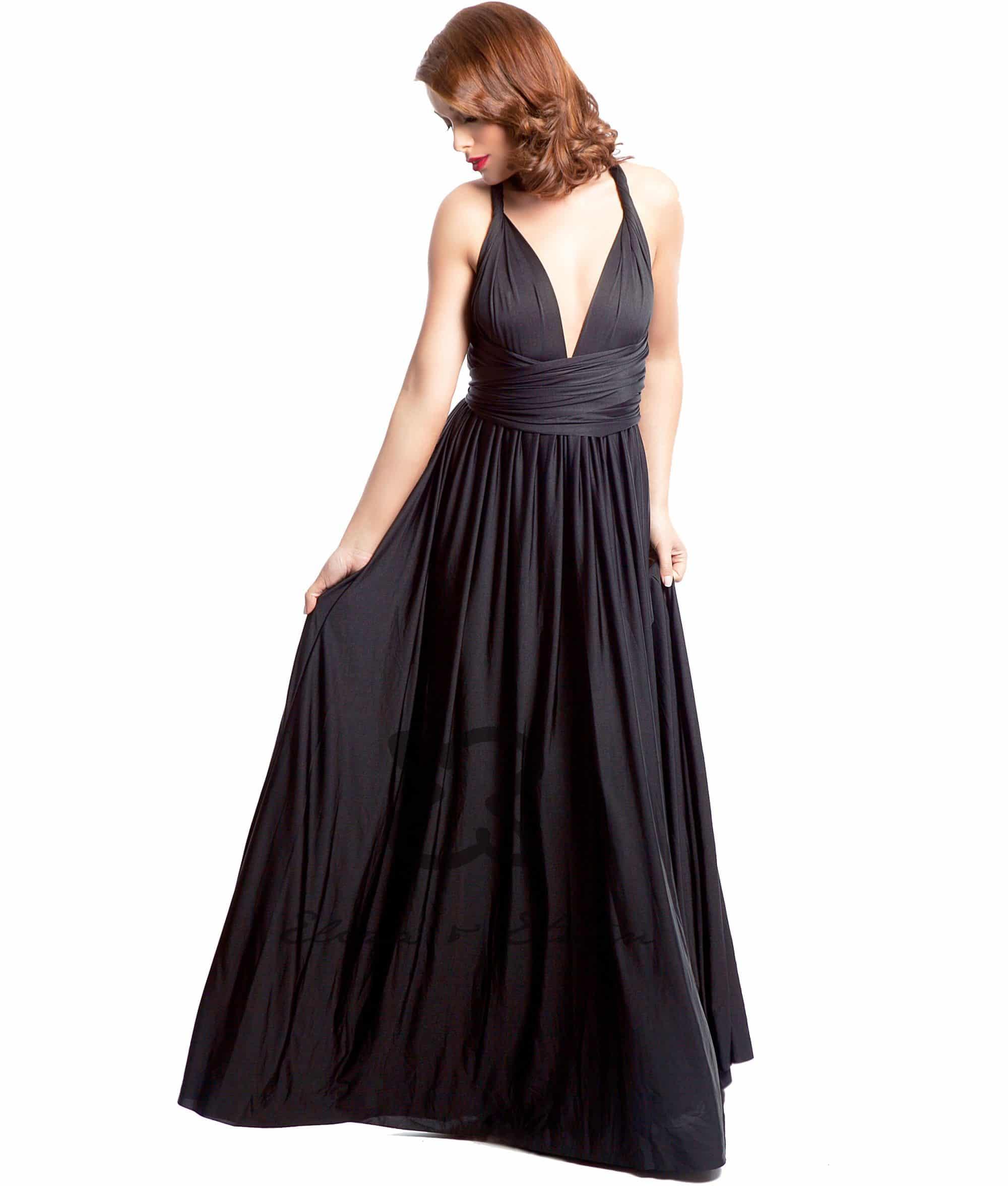 Eliza and Ethan Onyx Black Multiway Dress Alila