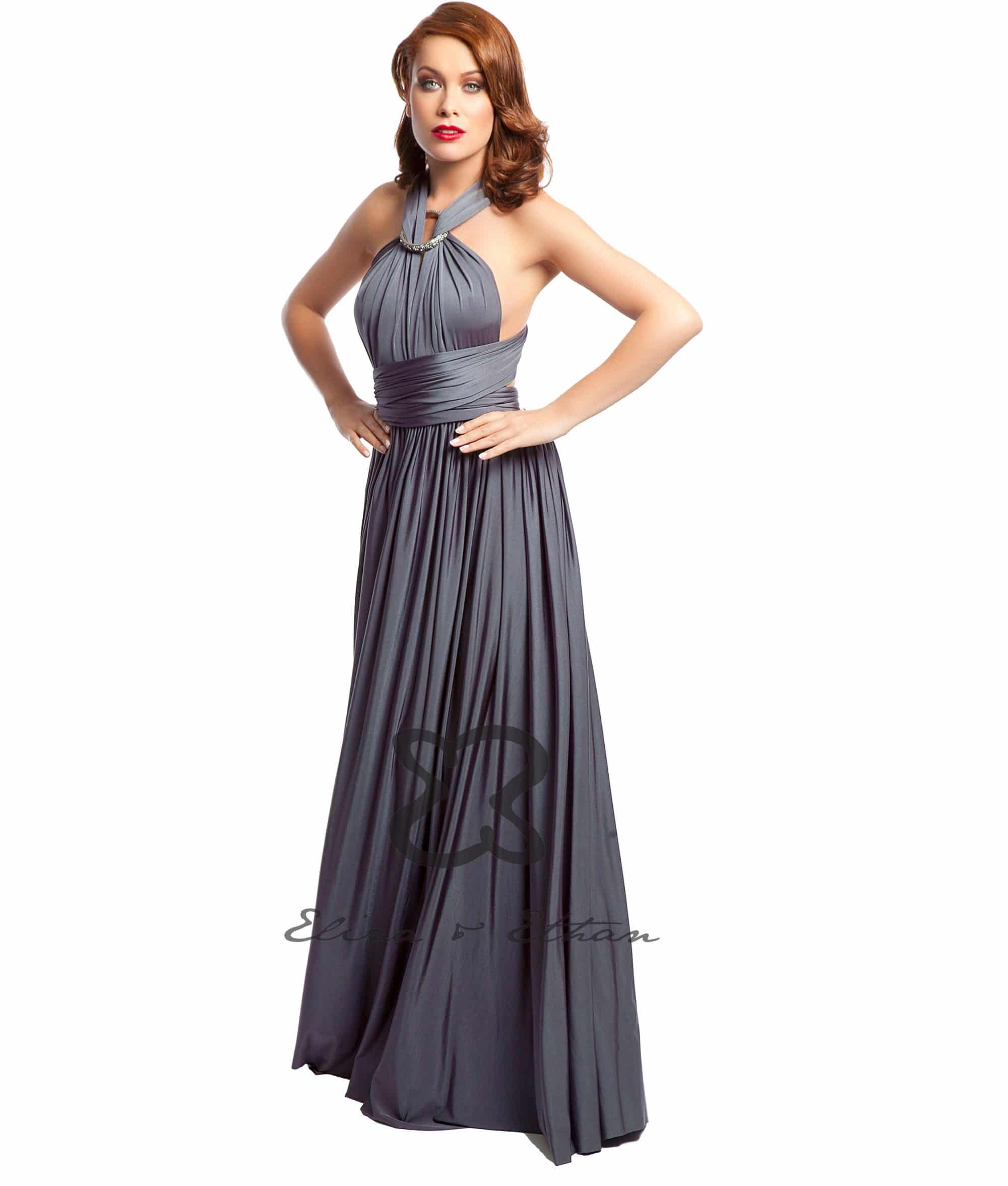 Eliza & Ethan Titanium Multiwrap Dress Alila