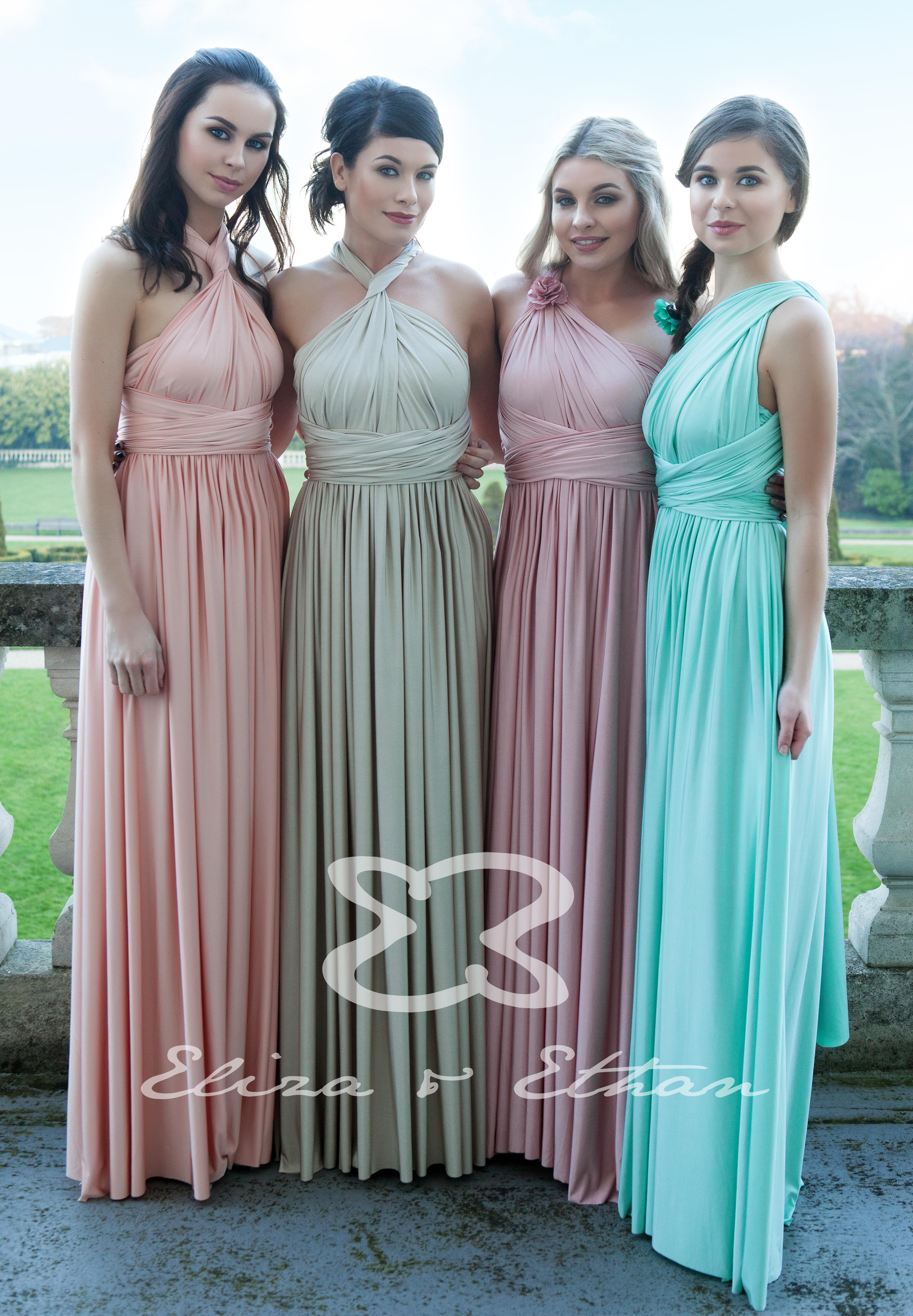 Eliza & Ethan Multi Wrap Dress Gallery   Bridesmaids Gallery