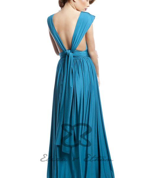 Eliza & Ethan Blue Lagoon Multiwrap Dress Alila