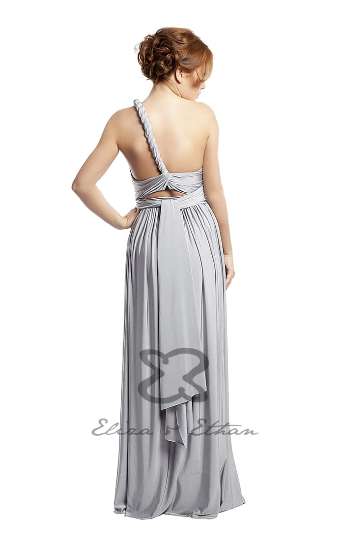 Eliza & Ethan Platinum Multiwrap Dress Alila