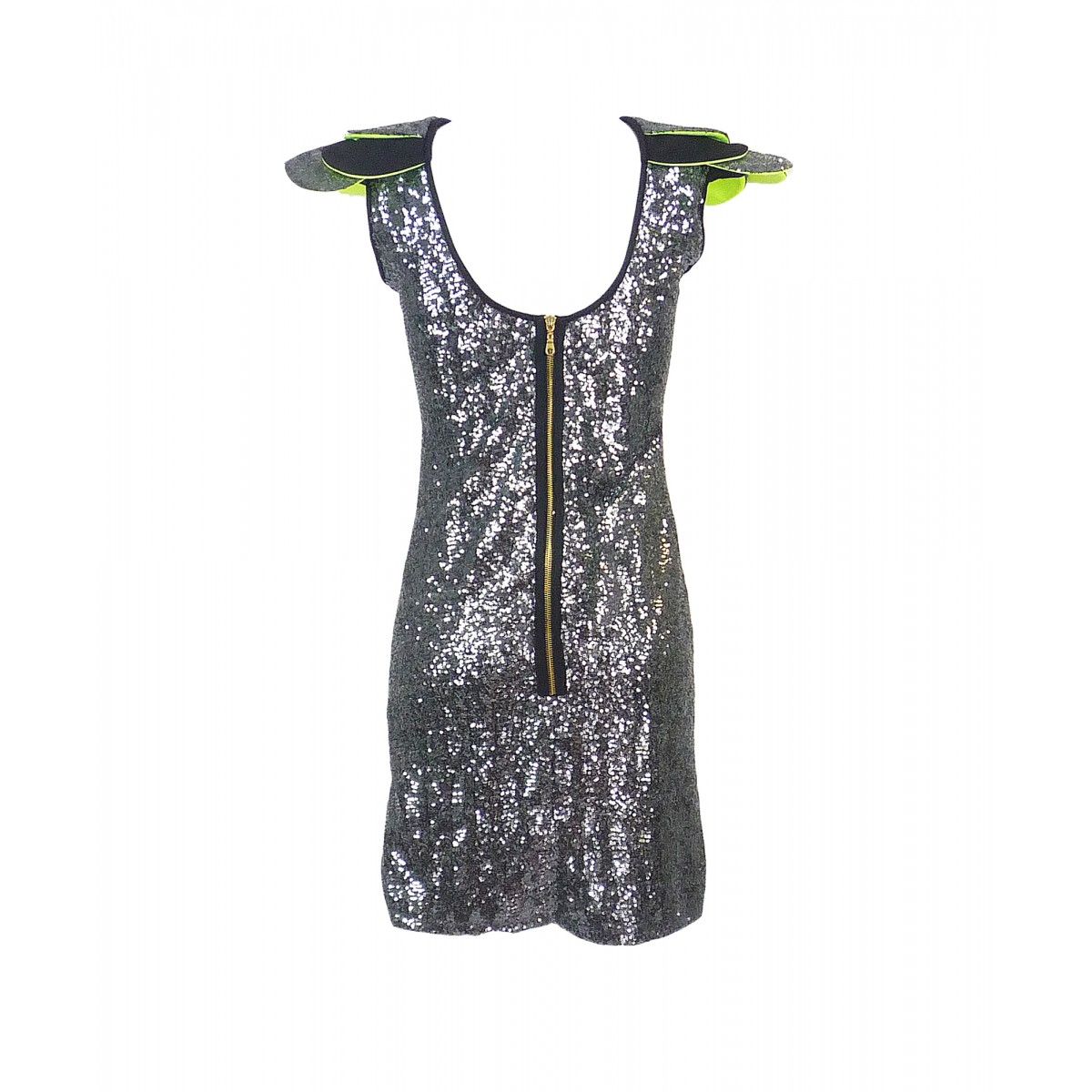 2wins-grey-sequin-layered-shoulder-dress