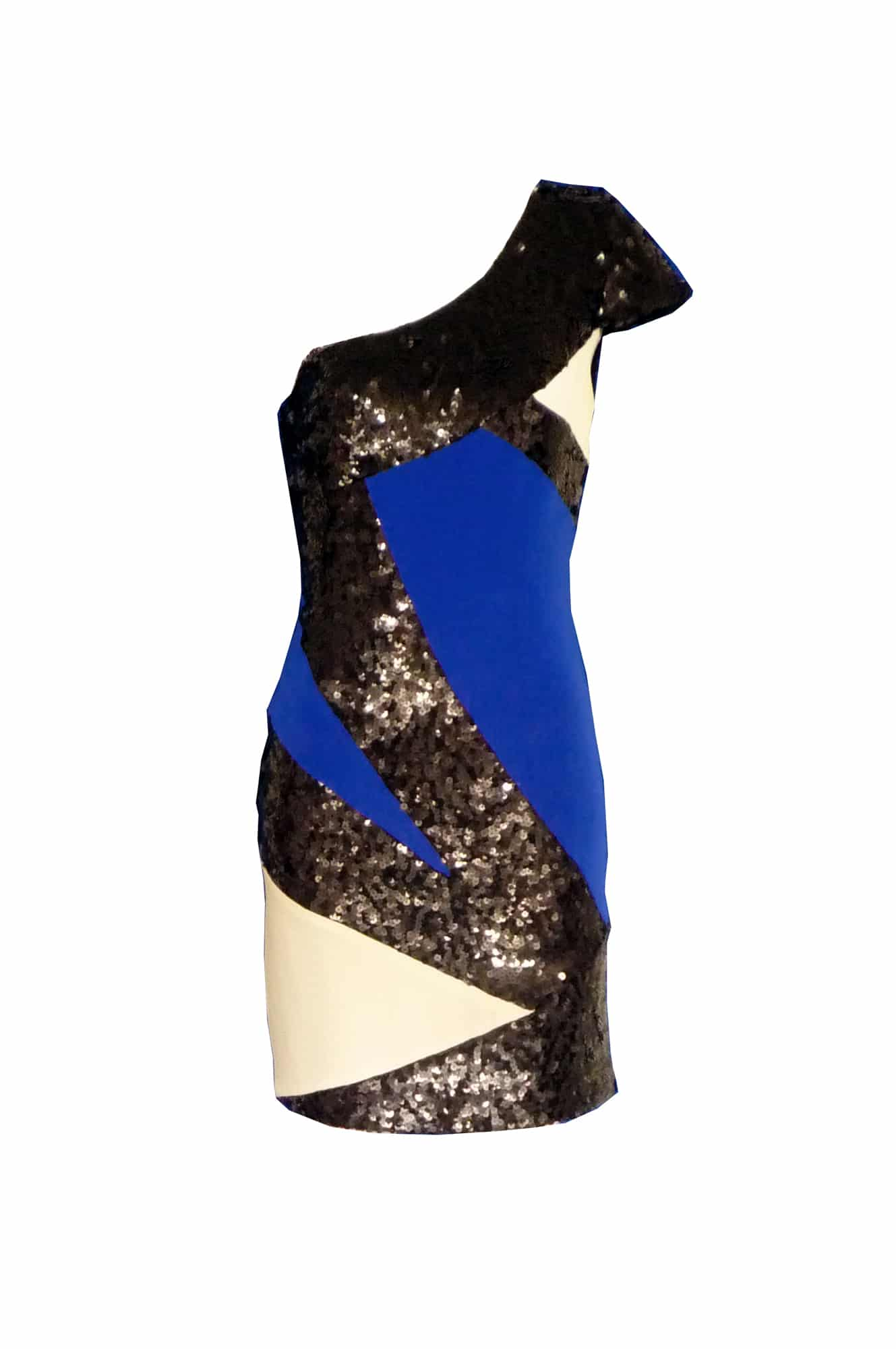 Jay Godfrey Colour block cutout blue