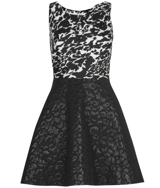 Oliva Rubin NICOLA Black & White Print Skater Dress
