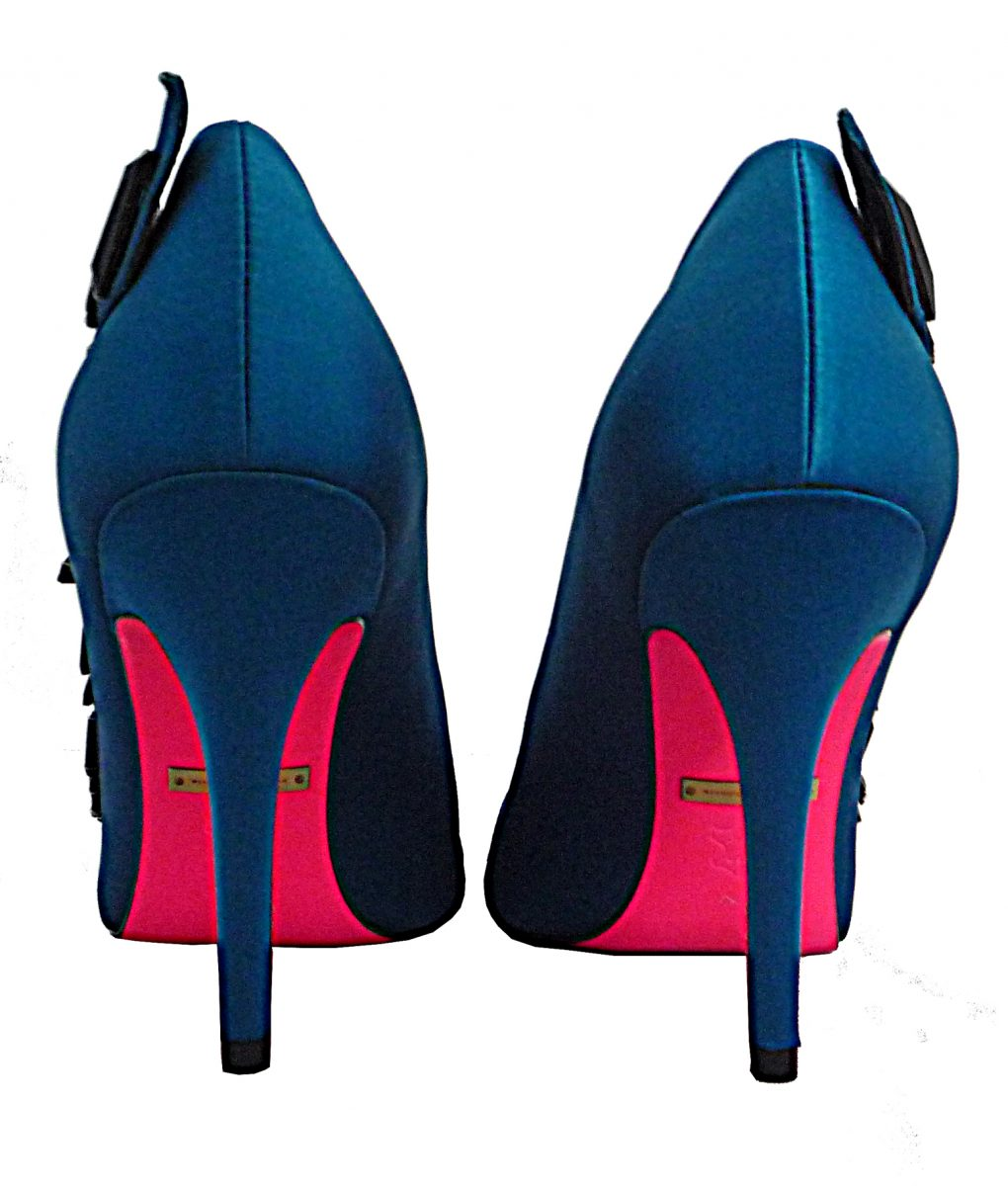 Alila Teal Silk Open Toe Shoe by Suecomma Bonnie