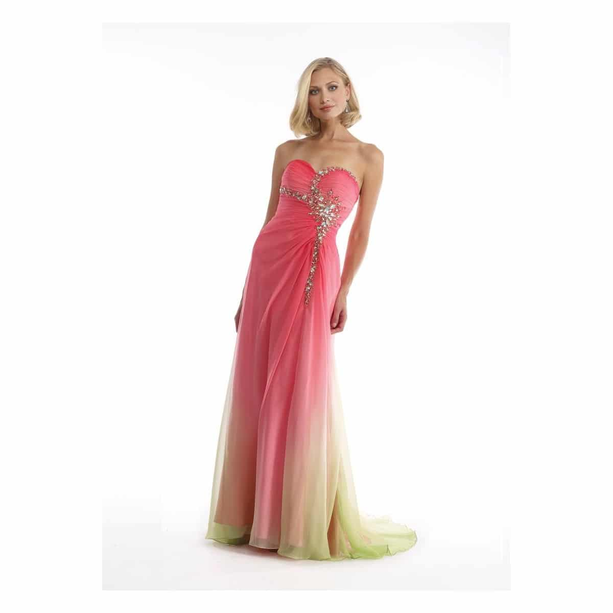 morrell-maxie-coral-and-lime-ombre-chiffon-dress