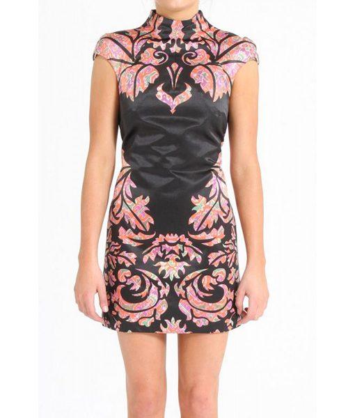 shakuhachi art deco print dress