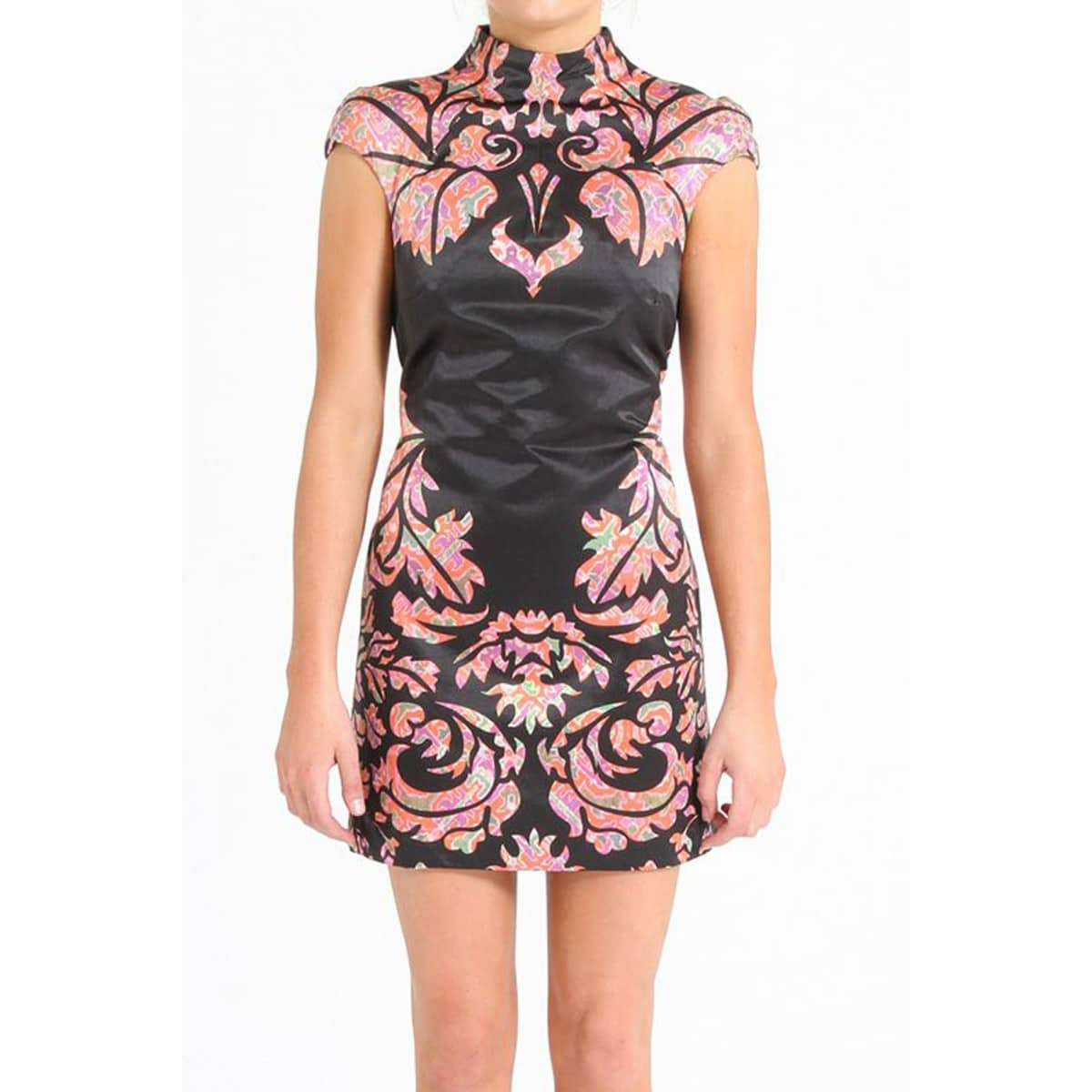 shakuhachi art deco print dress