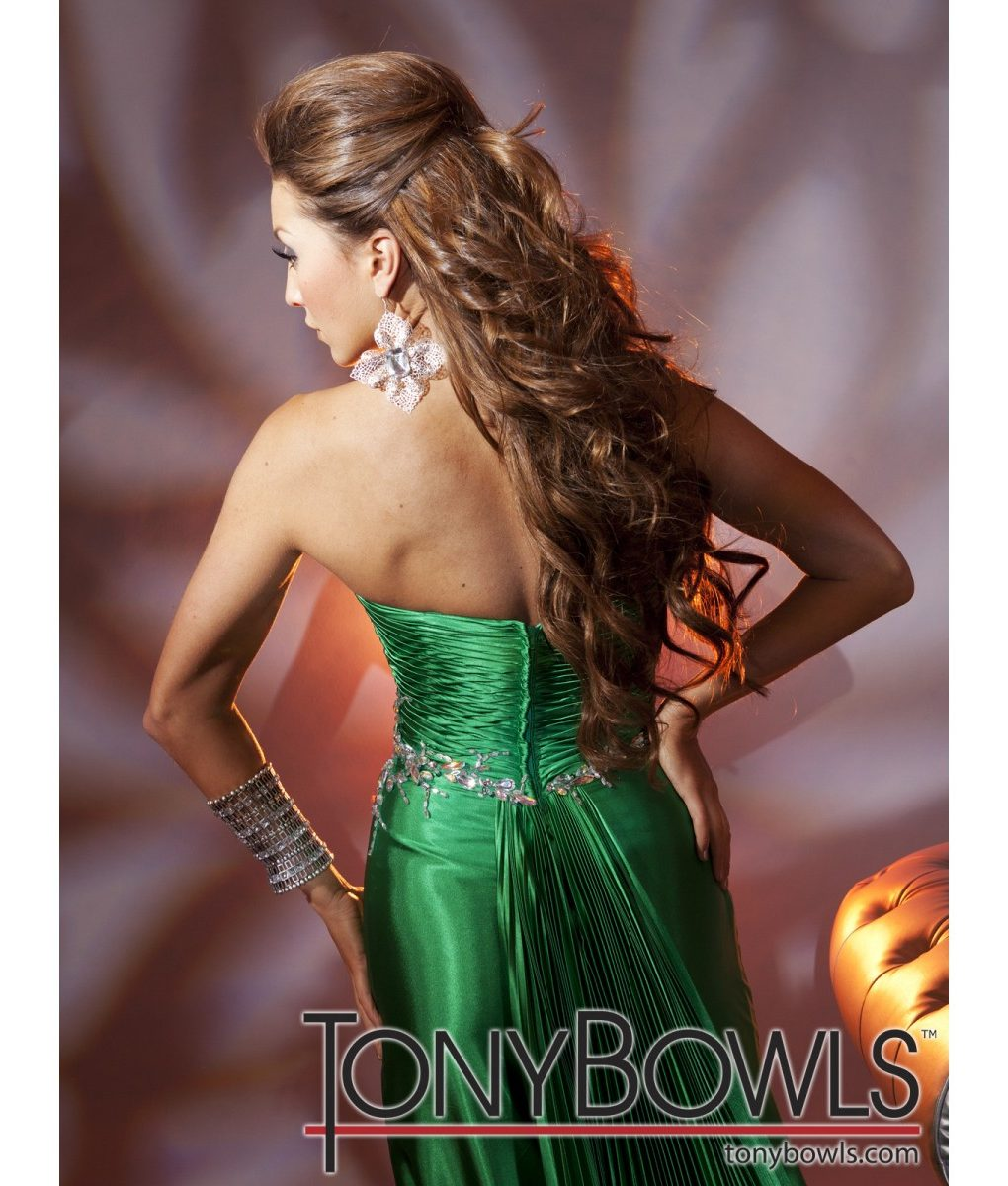 tony-bowls-green-silk-satin-strapless-gown- (1)