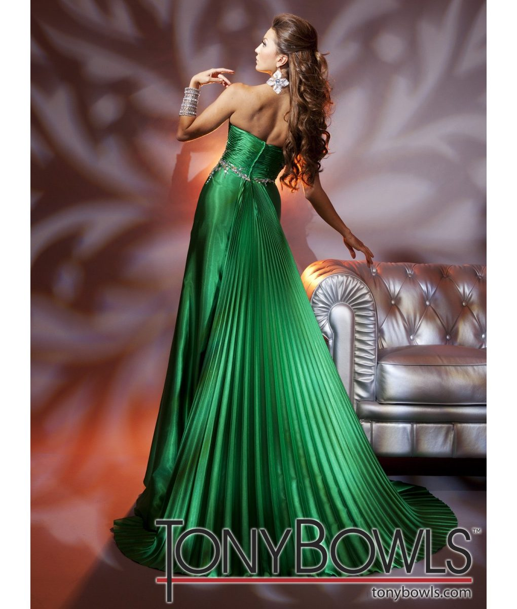 tony-bowls-green-silk-satin-strapless-gown- (2)