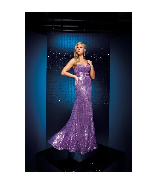 lilac sequined gown