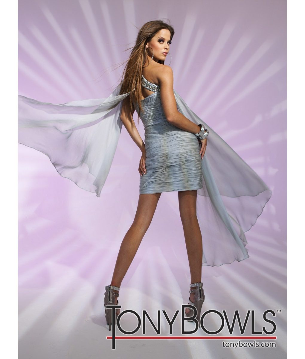 tony-bowls-silvery-grey-chiffon-drape-dress