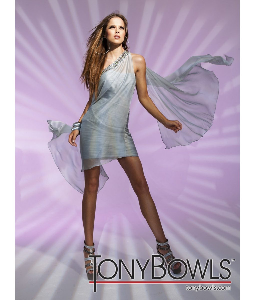 tony-bowls-silvery-grey-chiffon-drape-dress (2)
