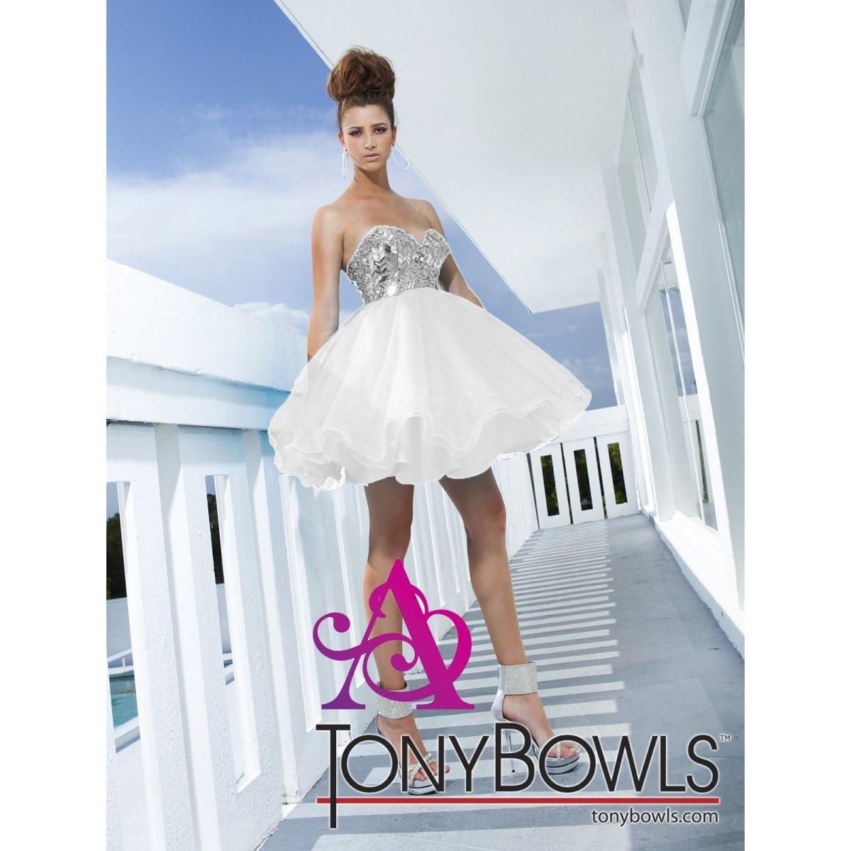 White Cocktail Dresses Tony Bowls