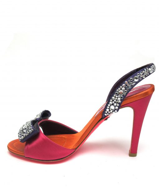 Suecomma Bonnie Multi-colour strappy sandal with crystal bow