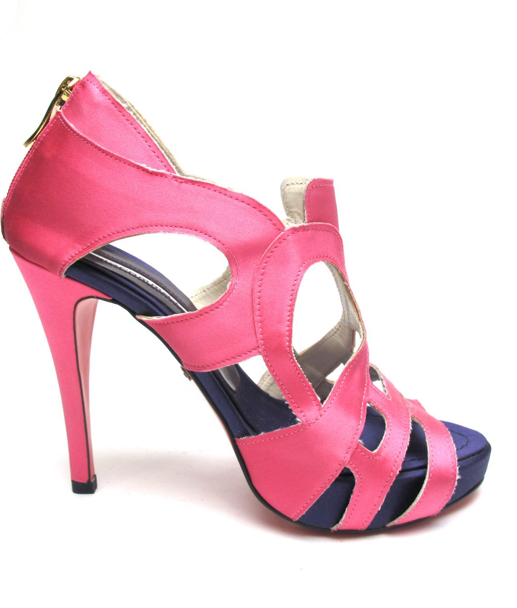 Suecomma Bonnie Pink & Purple Cutout Heels