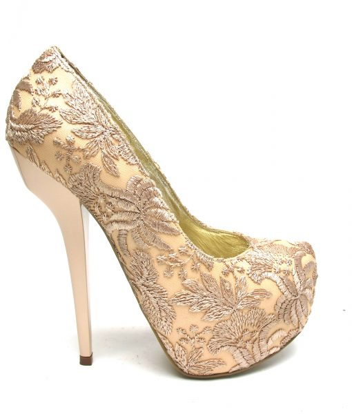 Veronesse Nude heels Lace Super High Heels