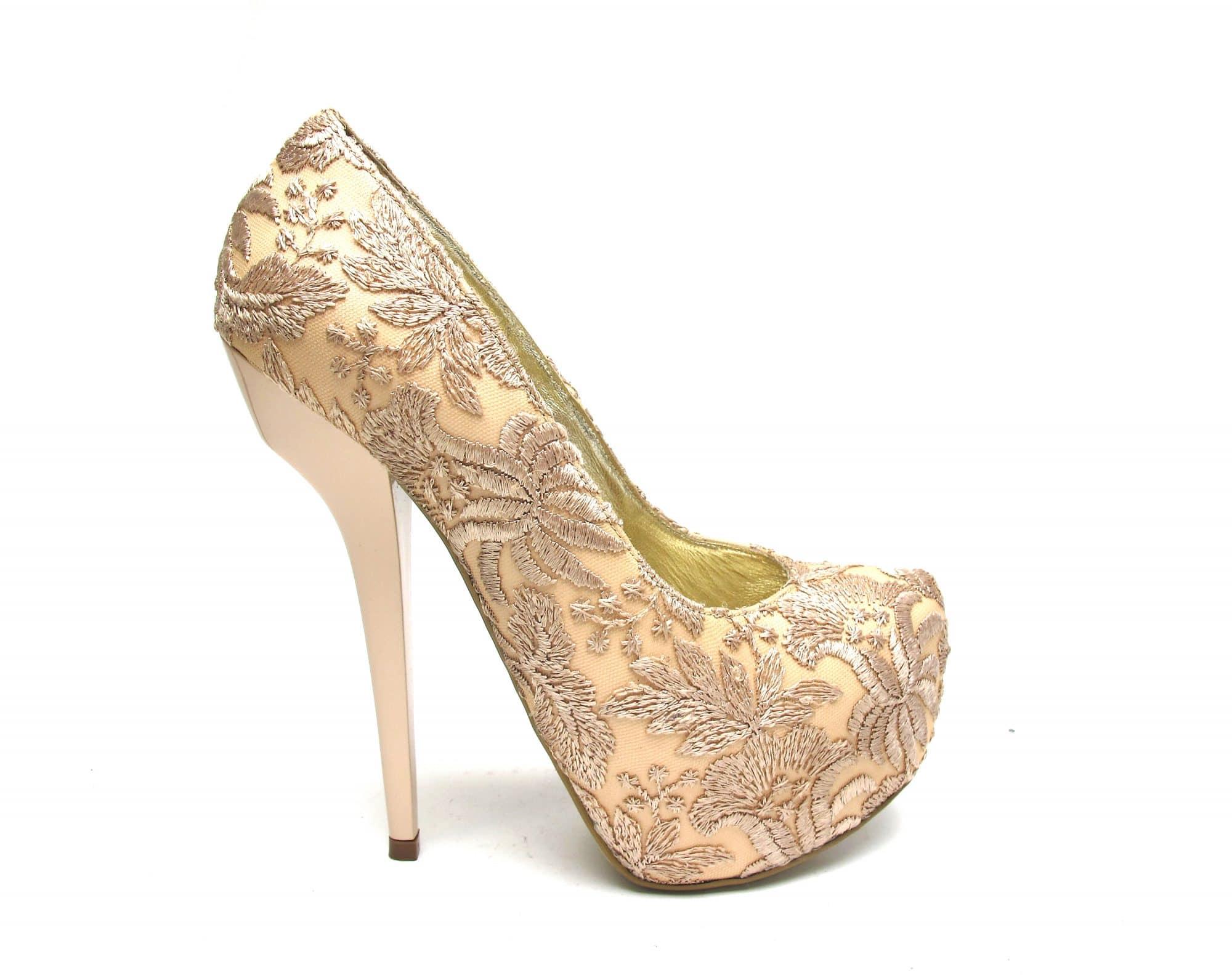 Veronesse Nude heels Lace Super High Heels