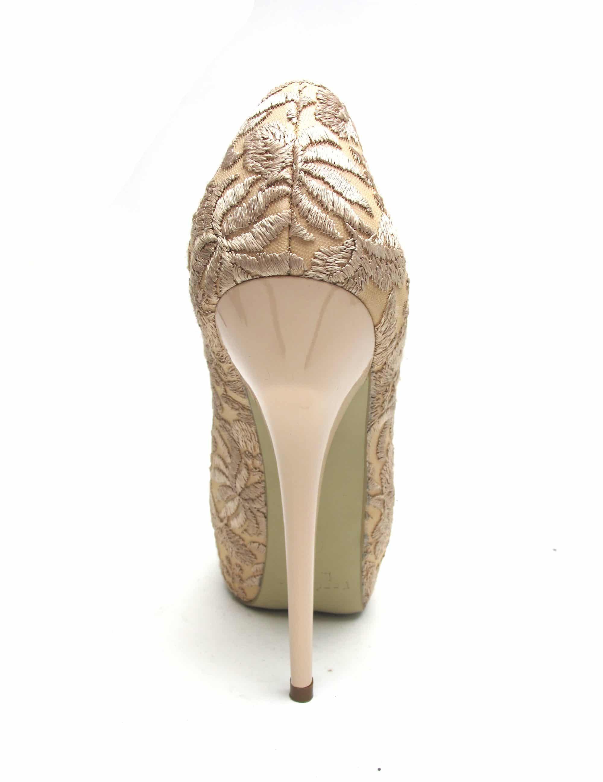 Veronesse Nude Lace Super High Heels