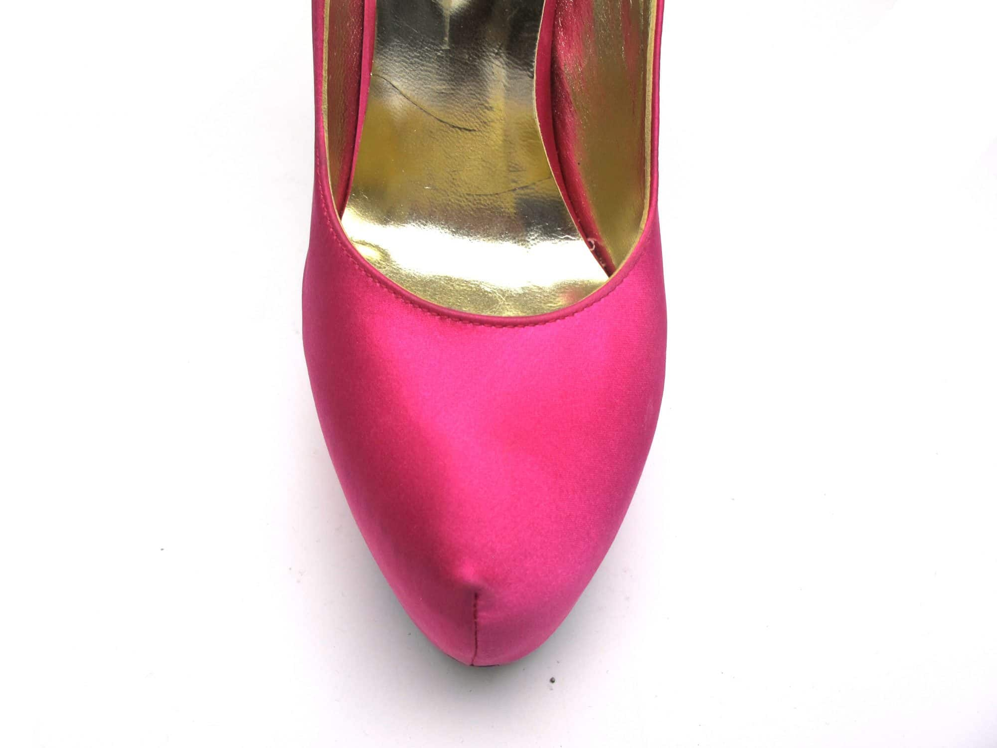 Veronesse Hot Pink and Rainbow Super High Heels