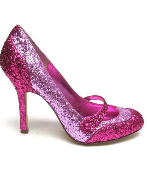 Tsuru Fuschia and pink glittered Mary-Janes
