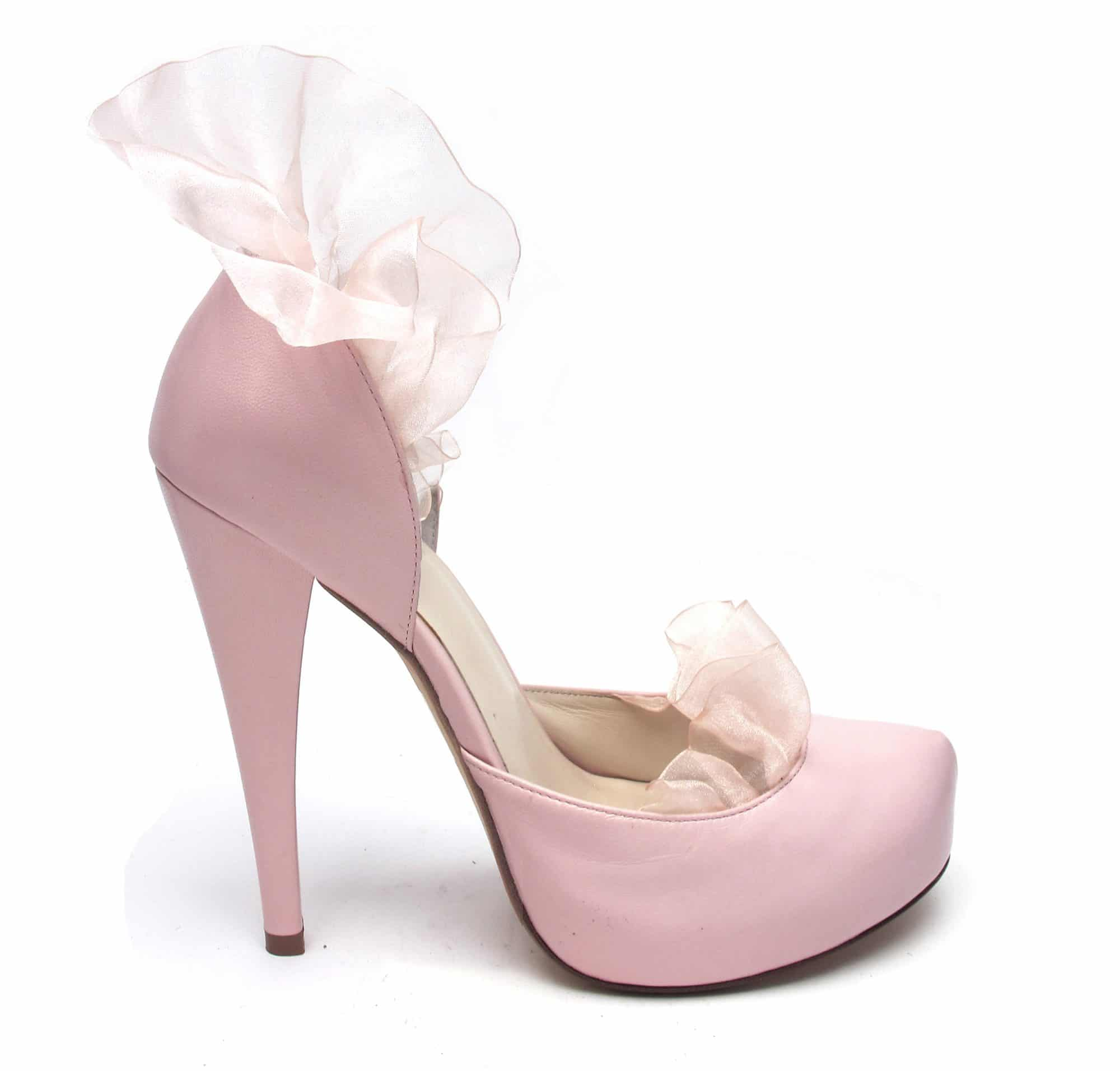 "Tsuru ""Carrie"" Organza Ruffle Heels"