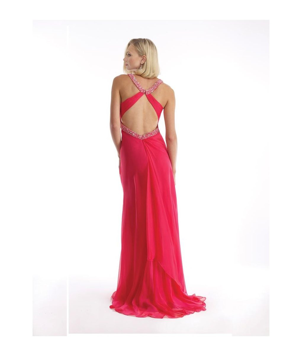 morrell-maxie-iridescent-coral-chiffon-backless-dress (1)
