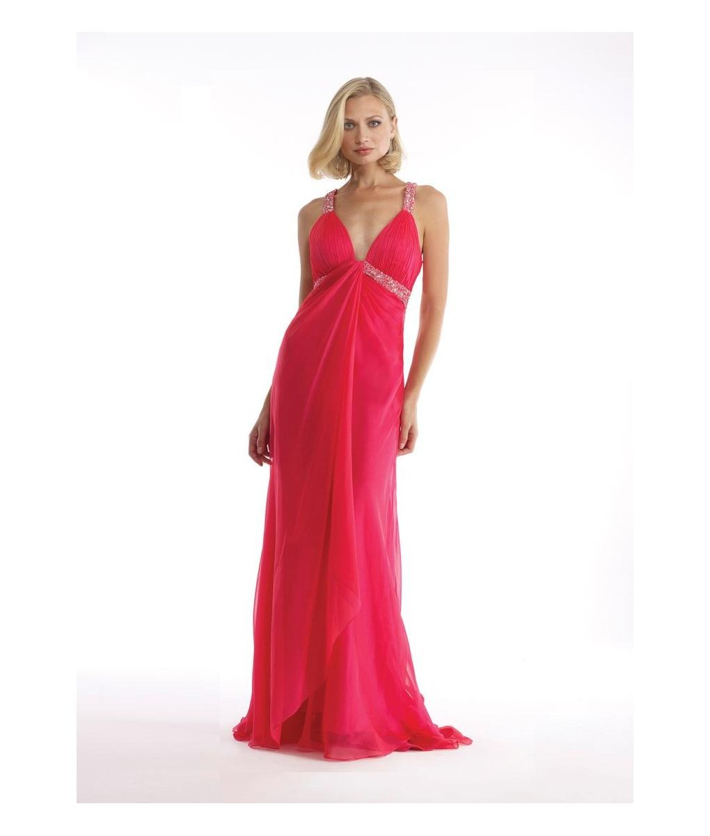 morrell-maxie-iridescent-coral-chiffon-backless-dress