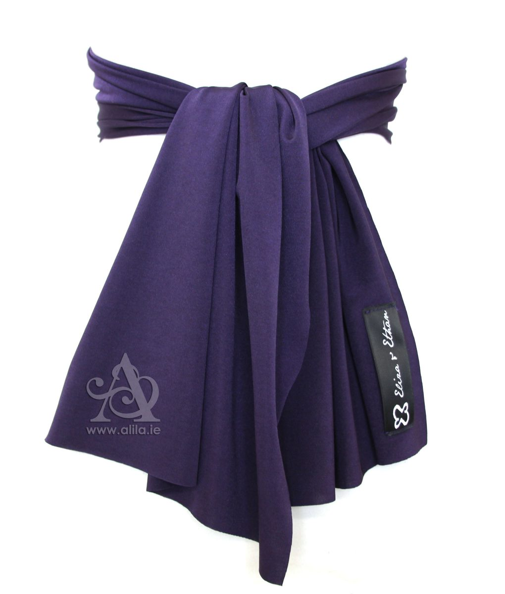 Eliza & Ethan Blackberry Flower Girl Sash Alila