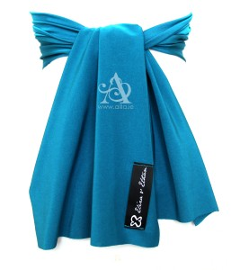 Blue Lagoon Flower Girl Sash back A