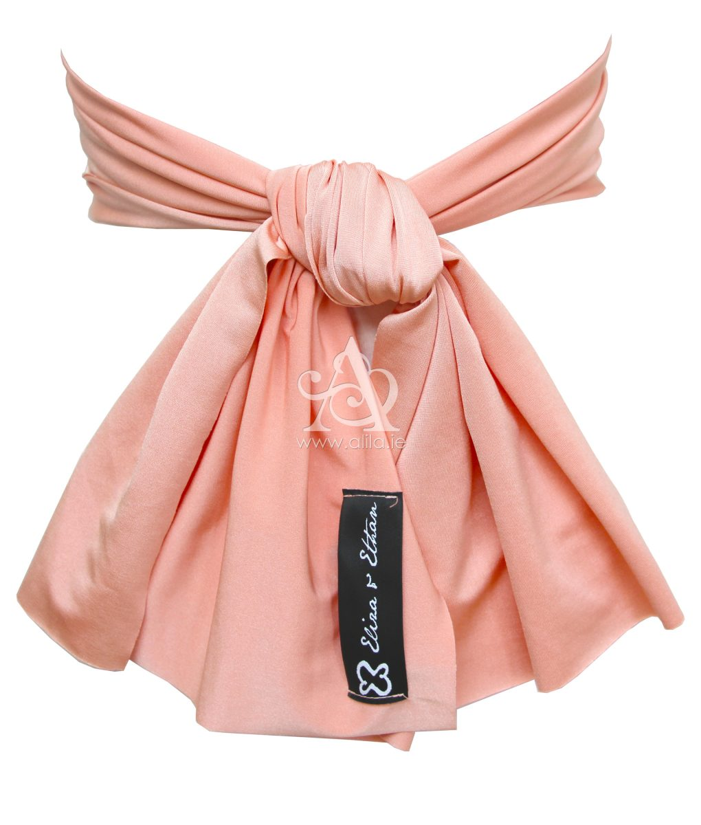 Eliza & Ethan Dusty Peach Flower Girl Sash Alila