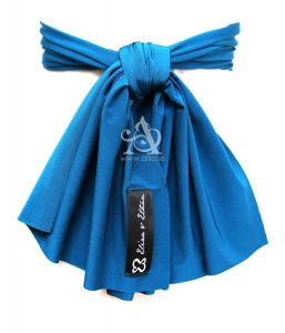 Ocean flower girl sash back A