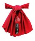 Ruby flower girl sash back A