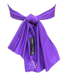 Veronica flower girl sash back A