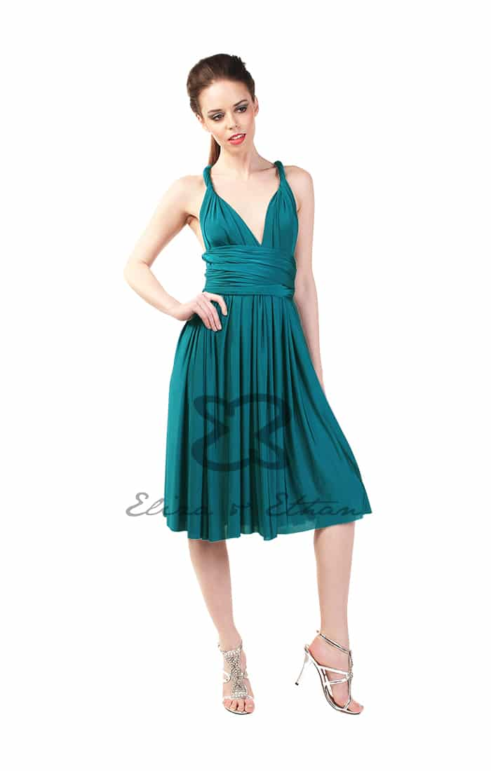 Eliza & Ethan Jade Short Multiwrap Dress Alila