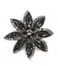 Black flower brooch 2963