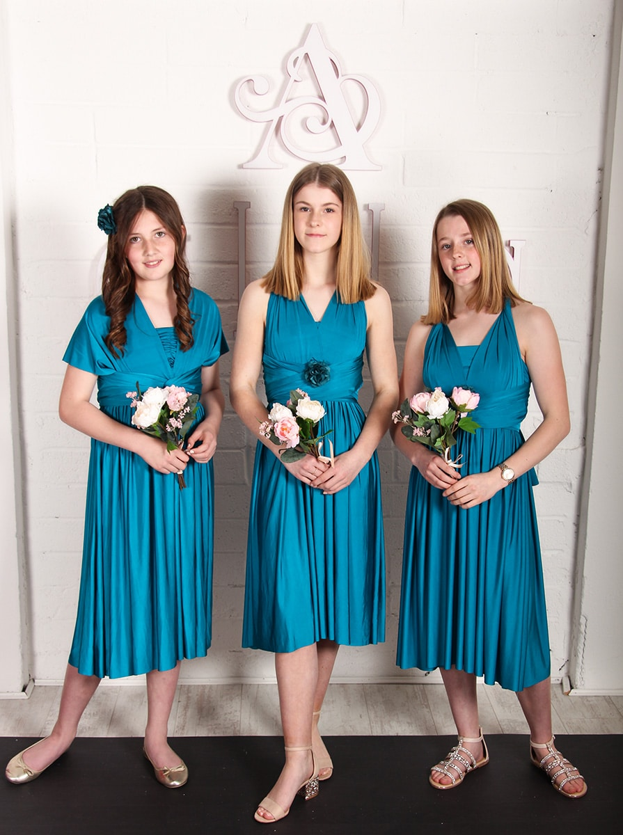 Junior-Bridesmaids-Multiway-Dresses-Blue-Lagoon-Alila-Boutique