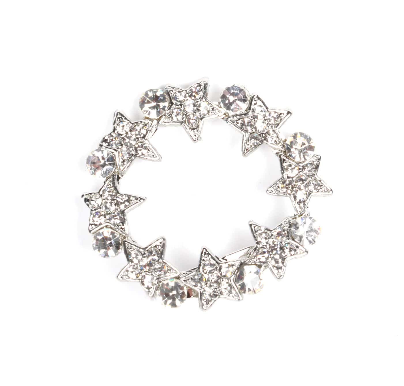 stars crystal brooch