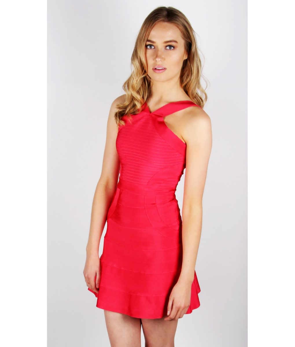 Alila Red Bodycon Dress By Wow Couture.