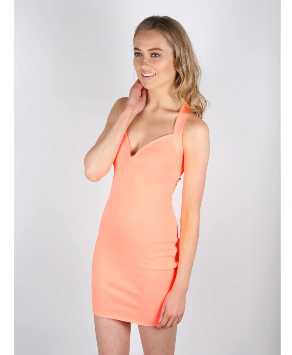 Alila Coral Bodycon Bandage Dress By Wow Couture.