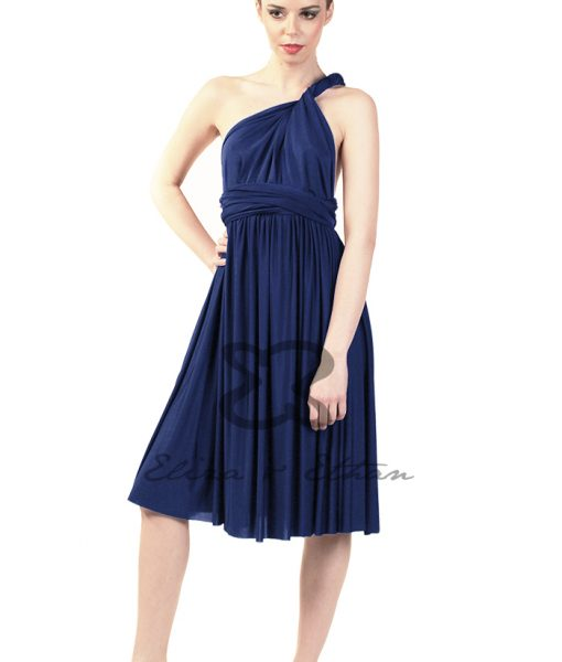 Eliza & Ethan Midnight Short Multiwrap Dress Alila